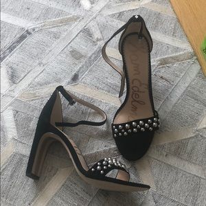Sam Edelman Black Yoshi Heeled Sandals